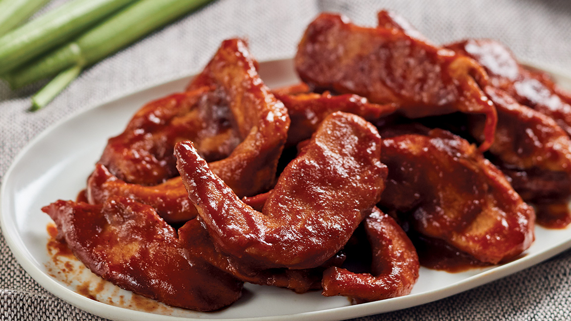 """Saucy Boneless Chicken """"Wings"""" with Red Ranch Sauce"""